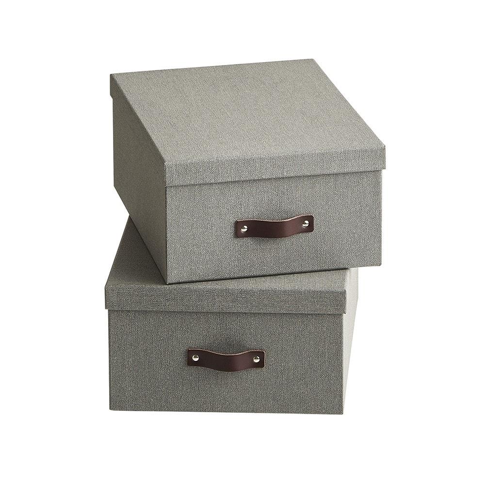 BIGSOBOX スウェーデン生まれの衣類収納ボックス ULRIKA(2個組) (イ)グレー