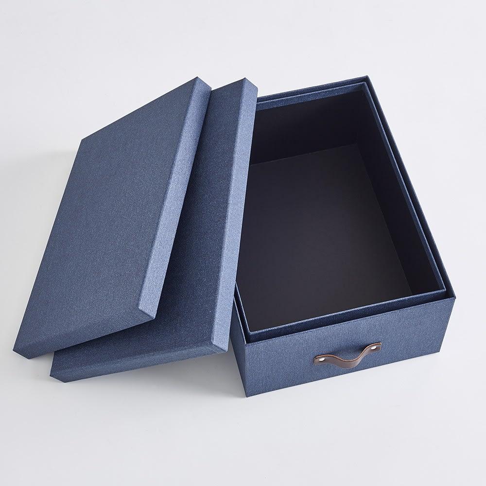 BIGSOBOX スウェーデン生まれの衣類収納ボックス ULRIKA(2個組) 使わないときはひとつにまとめられます。