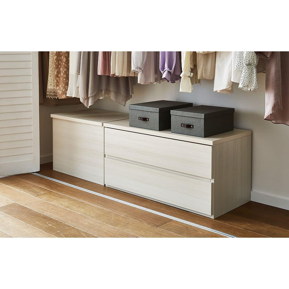 BIGSOBOX スウェーデン生まれの衣類収納ボックス ULRIKA(2個組) コーディネート例
