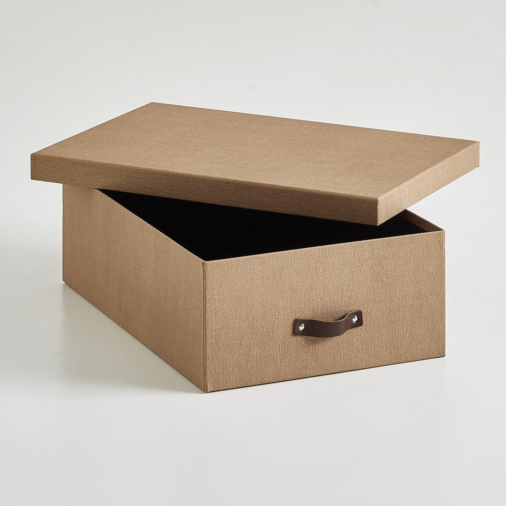 BIGSOBOX スウェーデン生まれの衣類収納ボックス INGE(3個組) (ア)ブラウン