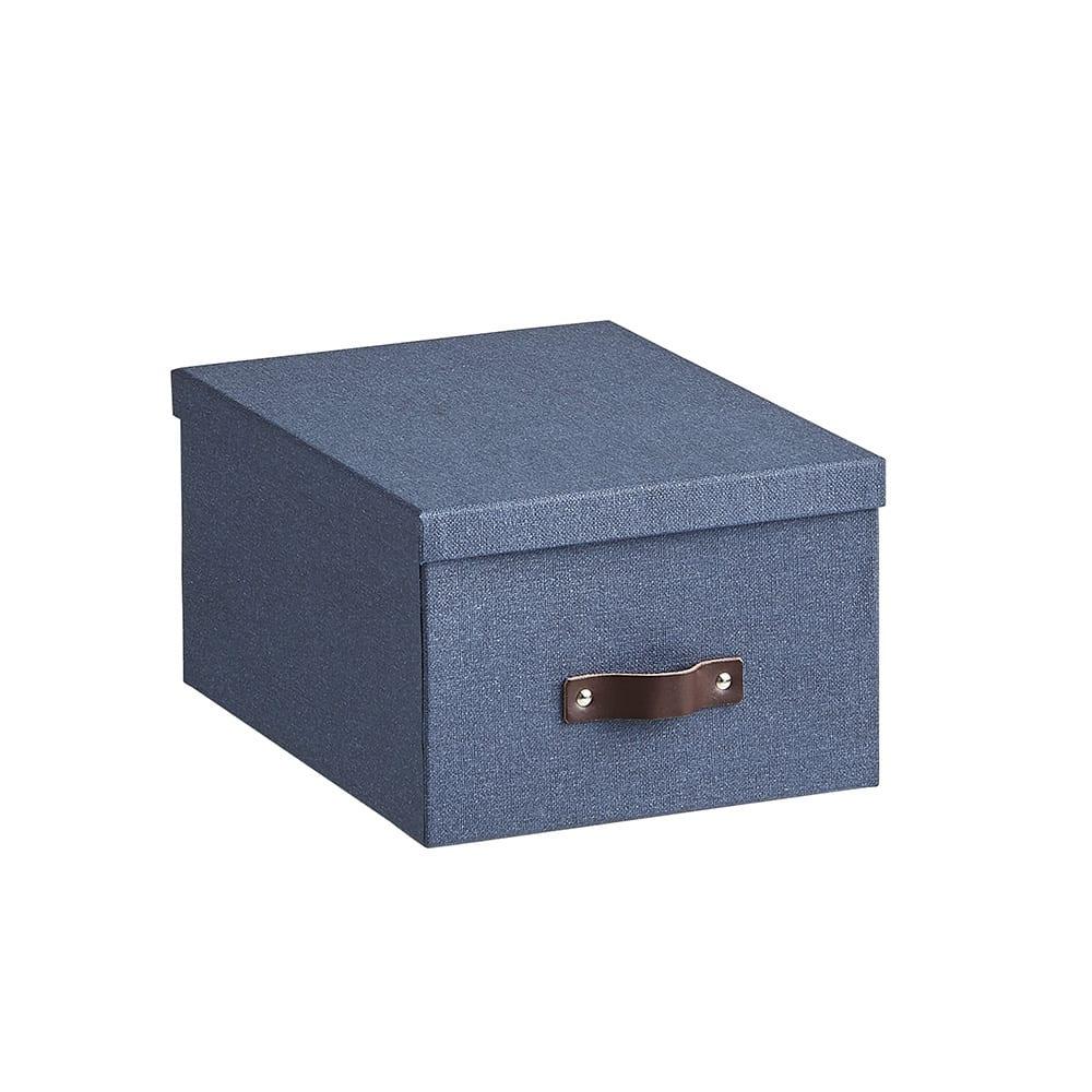 BIGSOBOX スウェーデン生まれの衣類収納ボックス INGE(3個組) (ウ)ネイビー・小