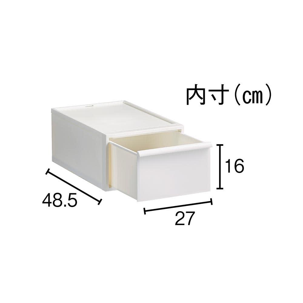 Carre/カレ ホワイトシステム衣類収納 中型タイプはシャツやスポーツタオルの収納に。