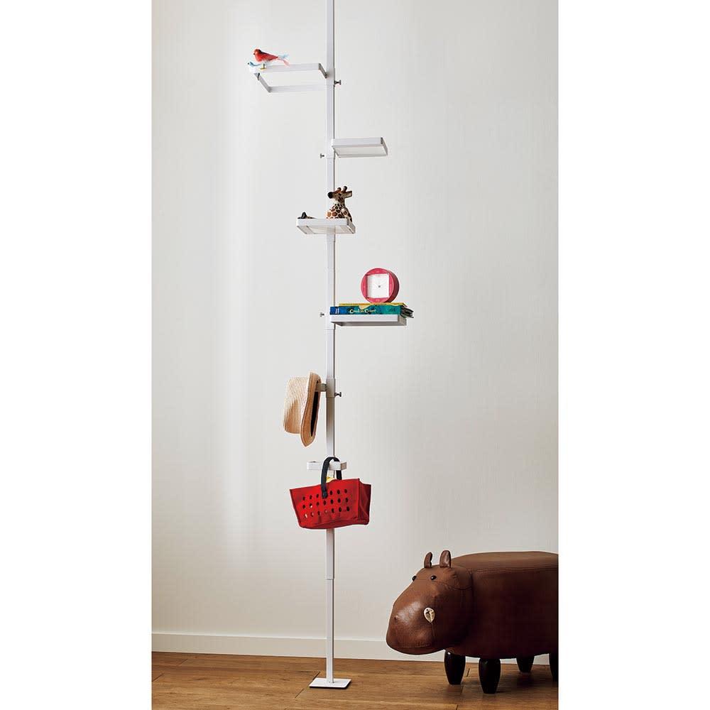 Euphy/ユフィ つっぱりハンガーラック スクエア型 可愛いアイテムを飾るように引っ掛けて、子供部屋のハンガーとしても。