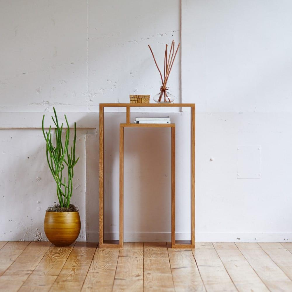 SHOJI/ショージ オケージョナルテーブル 幅57cm高さ86cm コンソールテーブル/サイドテーブル[abode・アボード/デザイン:ウー・バホリヨディン] [コーディネート例]ナチュラル