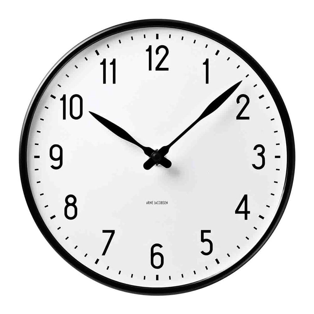 インテリア雑貨 日用品 時計 壁掛け時計 振り子時計 ARNE JACOBSEN/アルネヤコブセン 壁掛け時計 ステーション 径29cm H84108