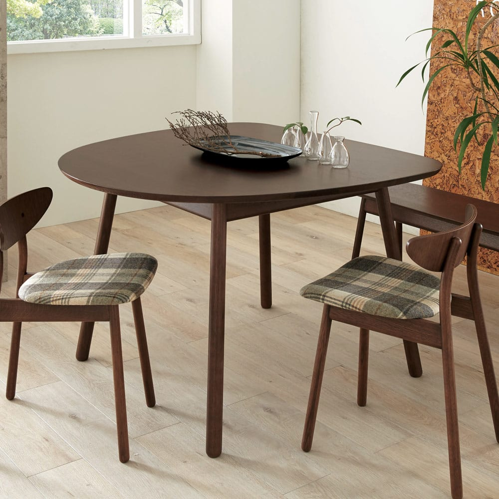 cobrina/コブリナ オーク天然木 ダイニングテーブル 幅111cm 奥行100cm ナチュラル/ブラウン