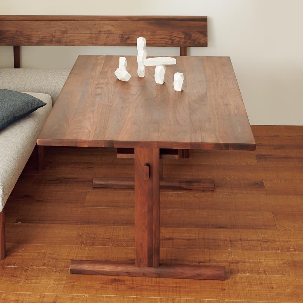 家具 収納 テーブル 机 ダイニングテーブル NORD/ノルド ダイニングテーブル幅120 ウォルナット H86024