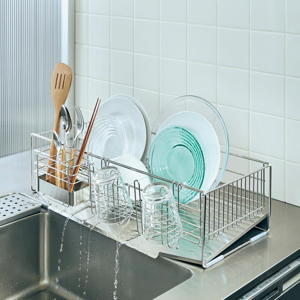 キッチン 家電 キッチン収納 水切り 水切りかご ラック 使いやすくなったシンクいっぱい水切り レギュラー H86601