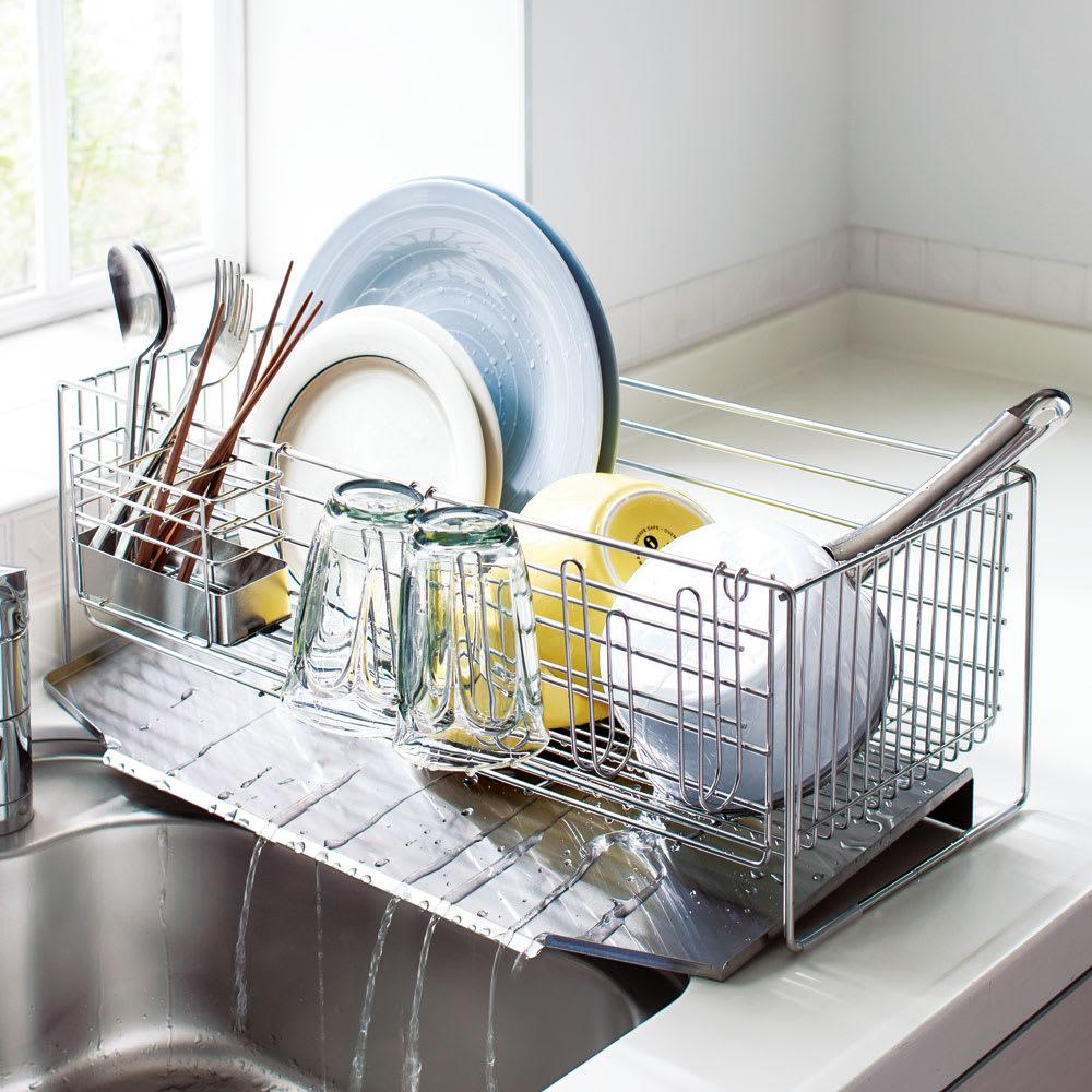 キッチン 家電 キッチン収納 水切り 水切りかご ラック 使いやすくなったシンクいっぱい水切り レギュラーハイタイプ H86602