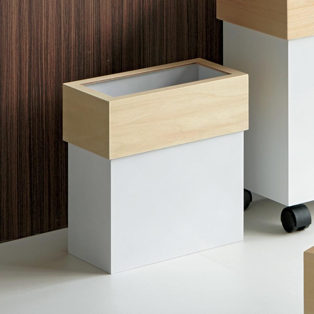 HOUSE STYLING/ハウススタイリング Hanger/ハンガー ダストボックス 10L ホワイト/ブラウン キッチン用ゴミ箱