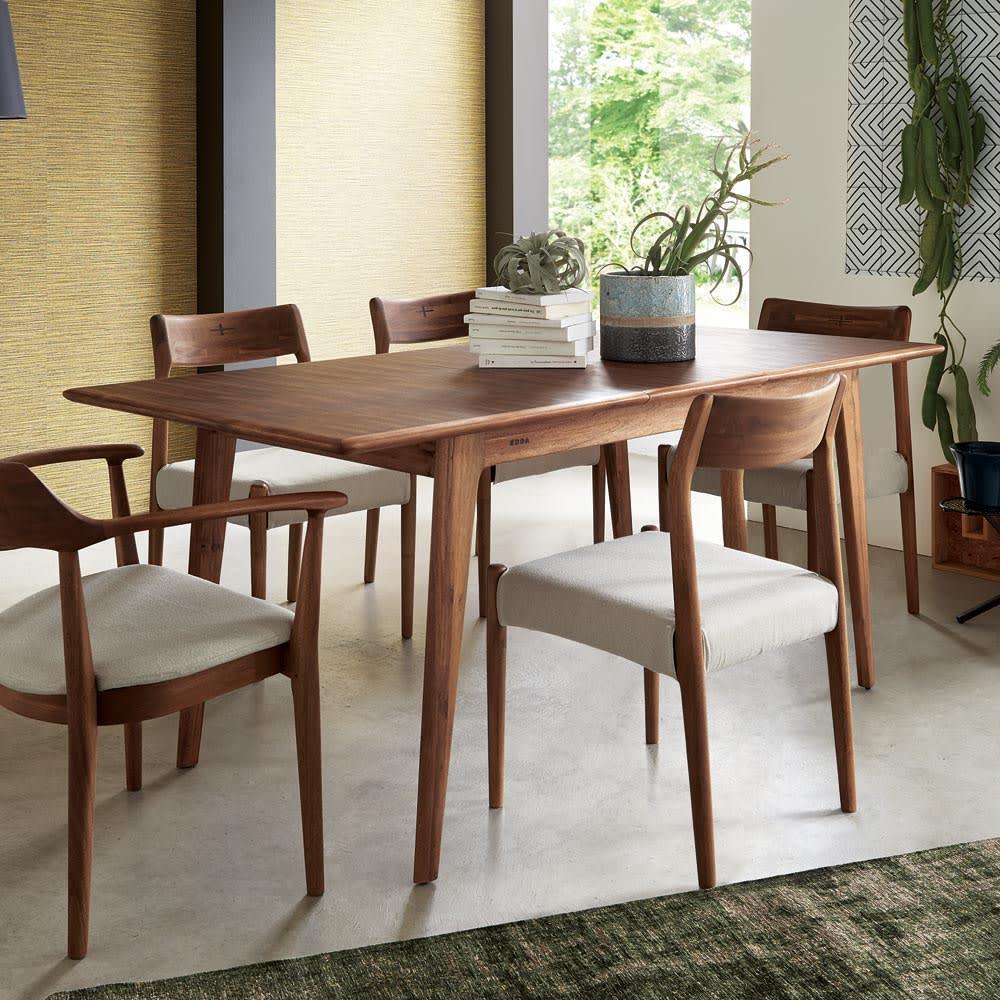 EDDA/エッダ 北欧スタイル 伸長式ダイニングテーブル 幅135~170cm テーブル伸長時