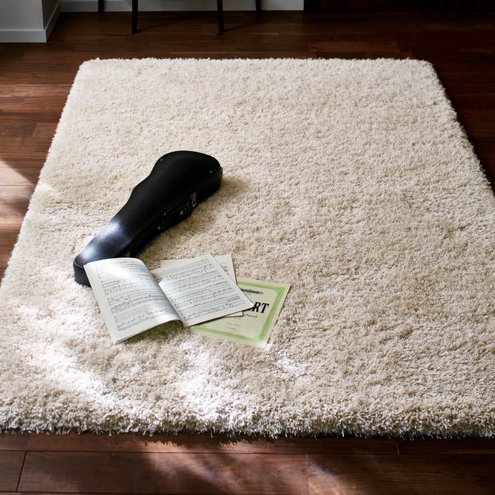 カーテン 敷物 ソファカバー カーペット ラグ マット 約140×200cm(マリカ ミックスシャギーラグ) H90128