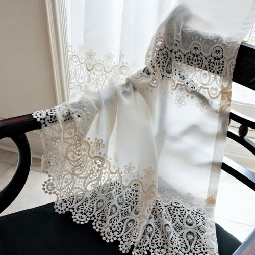 Ira/アイラ トルコ製生地使用レースカーテン(1枚) 生地はデザイン性の高いトルコ製。繊細なギュピュールレースが美しく上質な印象を演出します。