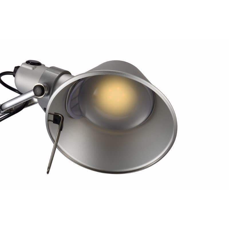 デスクライト TOLOMEO Mini TAVOLO LED/トロメオ ミニ タボロ LED[Artemide・アルテミデ/デザイン:ミケーレ・デ・ルッキ] やさしい電球色のライトでお部屋をムーディーに演出。無段階で調光します。