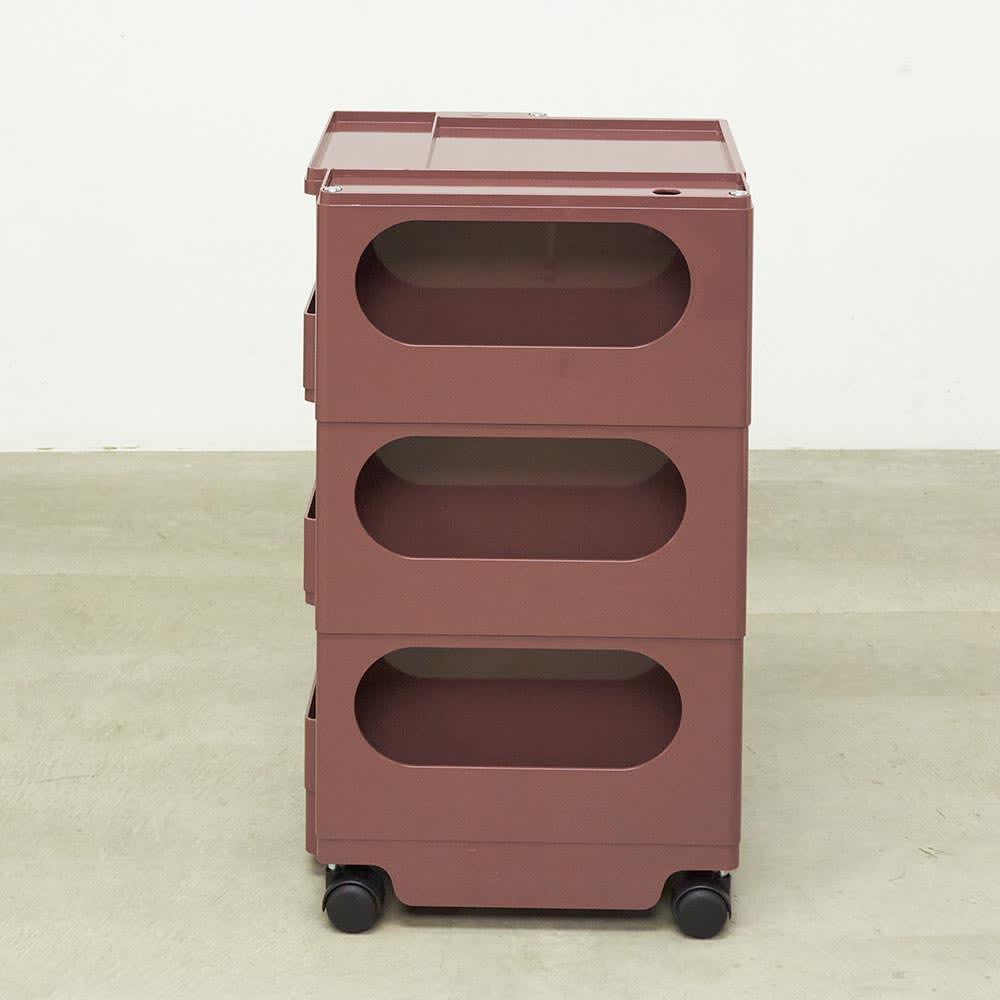 【台数限定54台】Boby Wagon/ボビーワゴン3段5トレイ HOUSE STYLING別注カラー・ココアブラウン[B-LINE・ビーライン/デザイン:ジョエ・コロンボ] 郵便物やメモ書き、電卓などの散らかりやすいものをまとめる際に便利な棚収納部。