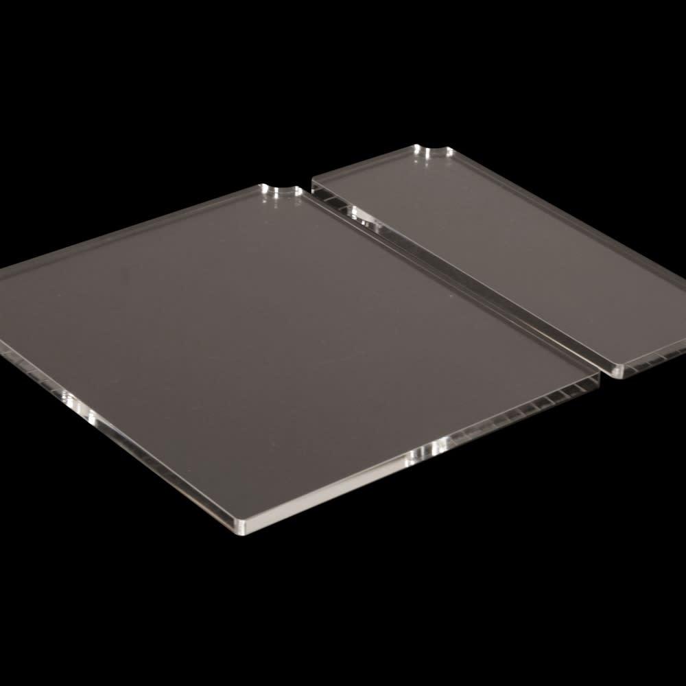 Boby Wagon/ボビーワゴン 専用アクリル天板セット[B-LINE・ビーライン/デザイン:ジョエ・コロンボ]) 厚み10mmのボリューム感のある透明度の高いアクリルが上質感を感じさせます。