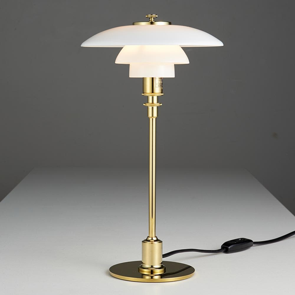 テーブルライト・デスクライト PH 2/1[Louis Poulsen・ルイスポールセン/デザイン:ポール・ヘニングセン] 点灯状態