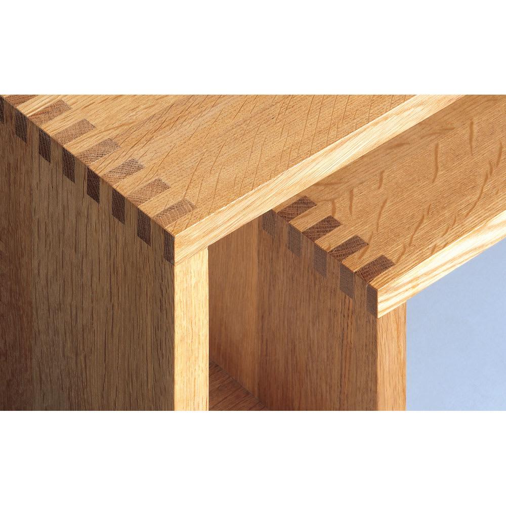 SHOJI/ショージ オケージョナルテーブル 幅72cm高さ29cm リビングテーブル/サイドテーブル[abode・アボード/デザイン:ウー・バホリヨディン] ジョイント部は頑丈で手の込んだ組木仕上げ。