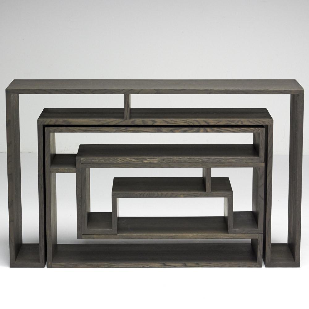 SHOJI ショージ オケージョナルテーブル 3点セット(コンソール・リビングテーブル)[abode(アボード)/デザイン:ウー・バホリヨディン] 正面(A面)