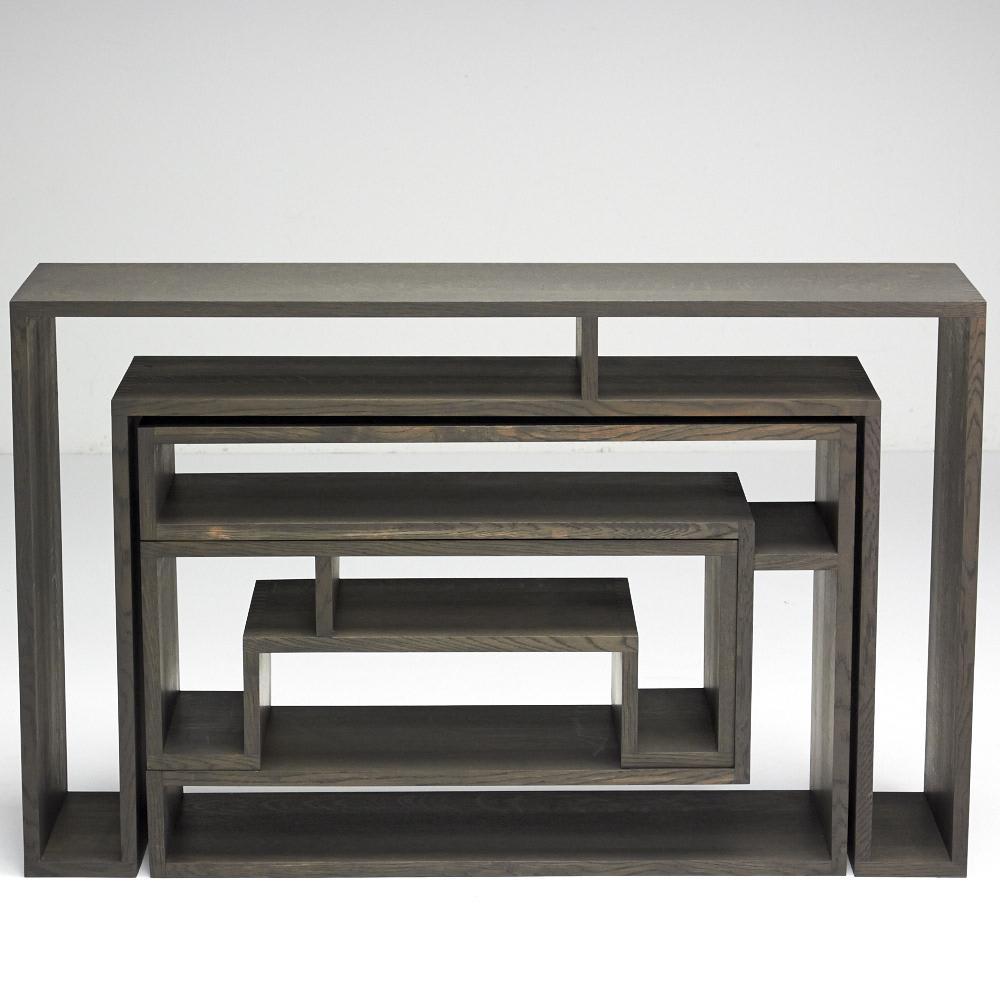 SHOJI ショージ オケージョナルテーブル 3点セット(コンソール・リビングテーブル)[abode(アボード)/デザイン:ウー・バホリヨディン] 正面(B面)