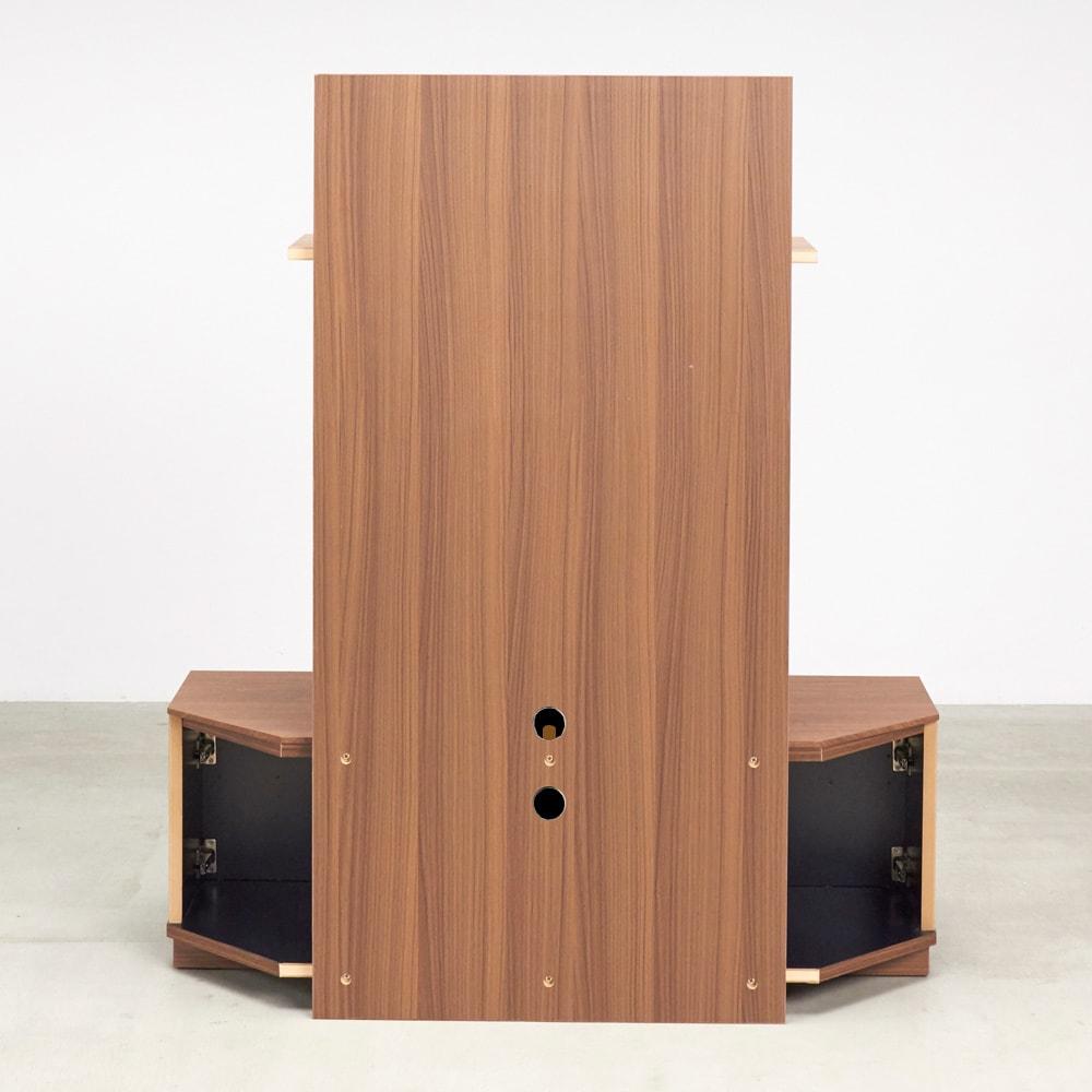 AlusStyle/アルススタイル  リビングシリーズ バックパネル付きコーナーテレビ台 幅119.5cm 背面