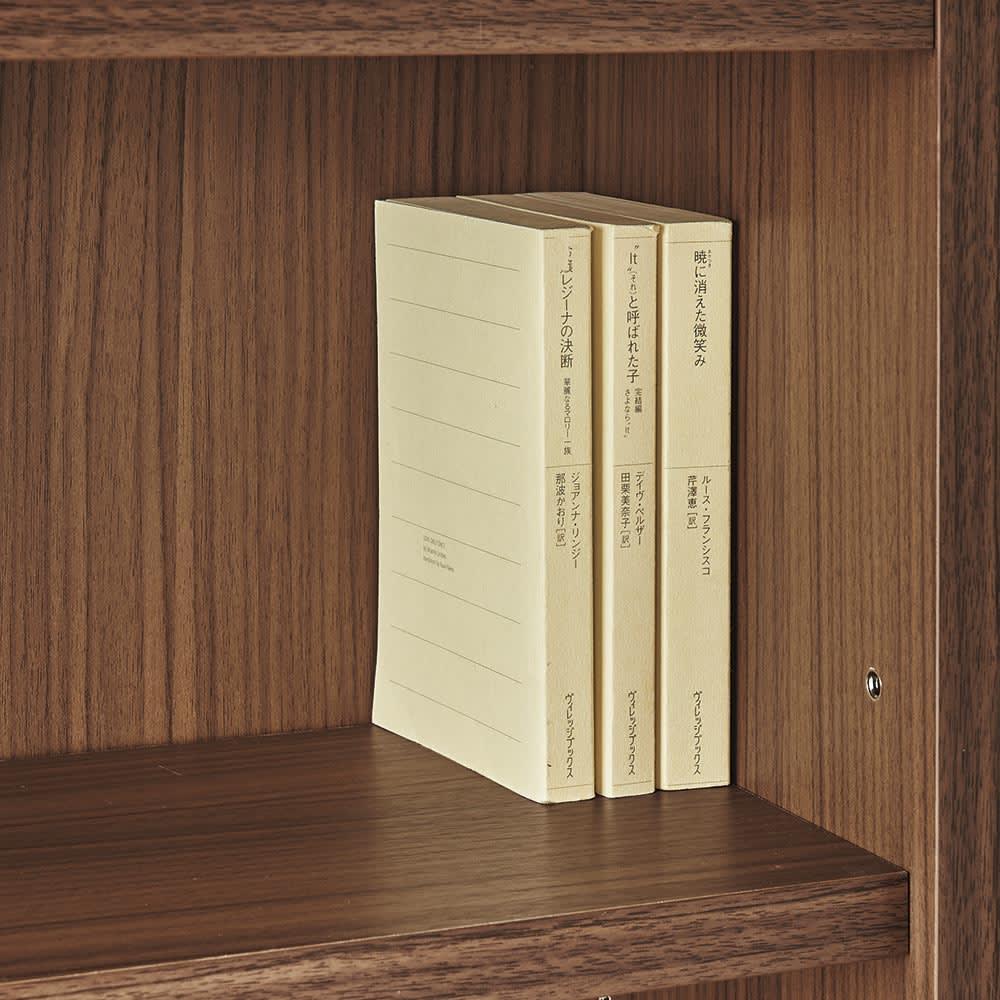 AlusStyle/アルススタイル シェルフシリーズ 上台:オープン&下台:扉 幅80cm高さ192cm 上段収納部は単行本やコミックが収納できる奥行21cm。