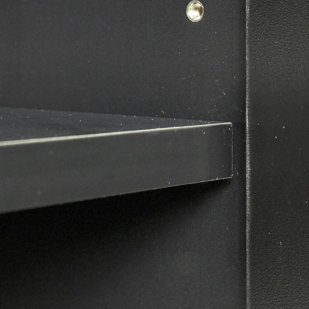 AlusStyle/アルススタイル カウンター下収納庫 2枚扉 幅80cm高さ84.5cm 棚板にも同色の化粧を施し、統一感のある見た目に。
