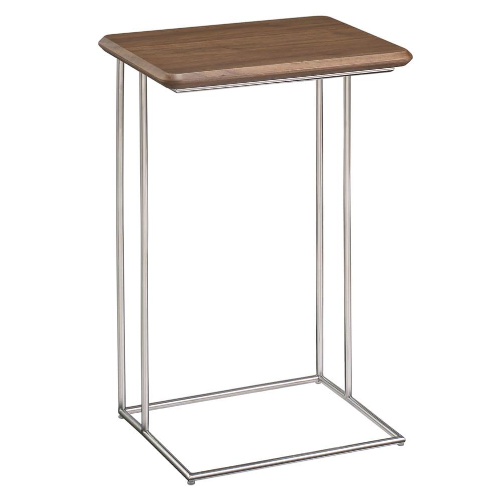 ステンレス脚のソファテーブル 高さ65cm ウォルナット