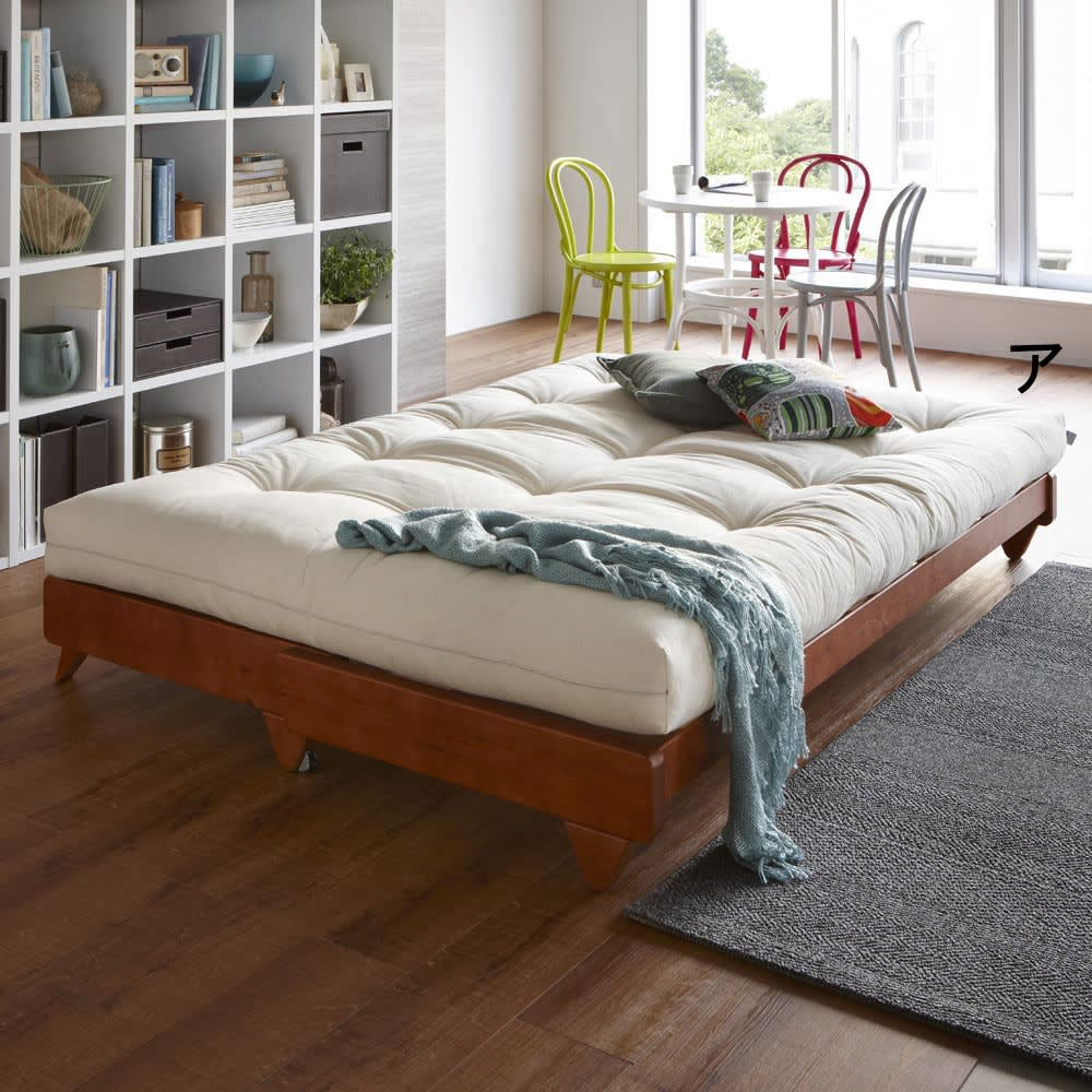 ヨーロッパ製ソファベッド Karup カーラップ ベッド時は、ダブルベッド相当の大きさなので広々お使いいただけます。※耐荷重は約100kgです。