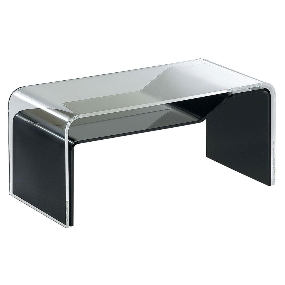 InShore/インショア コンビテーブル アクリルテーブル クリア&ブラック 水平時の収納部サイズ:約幅41cm高さ7cm