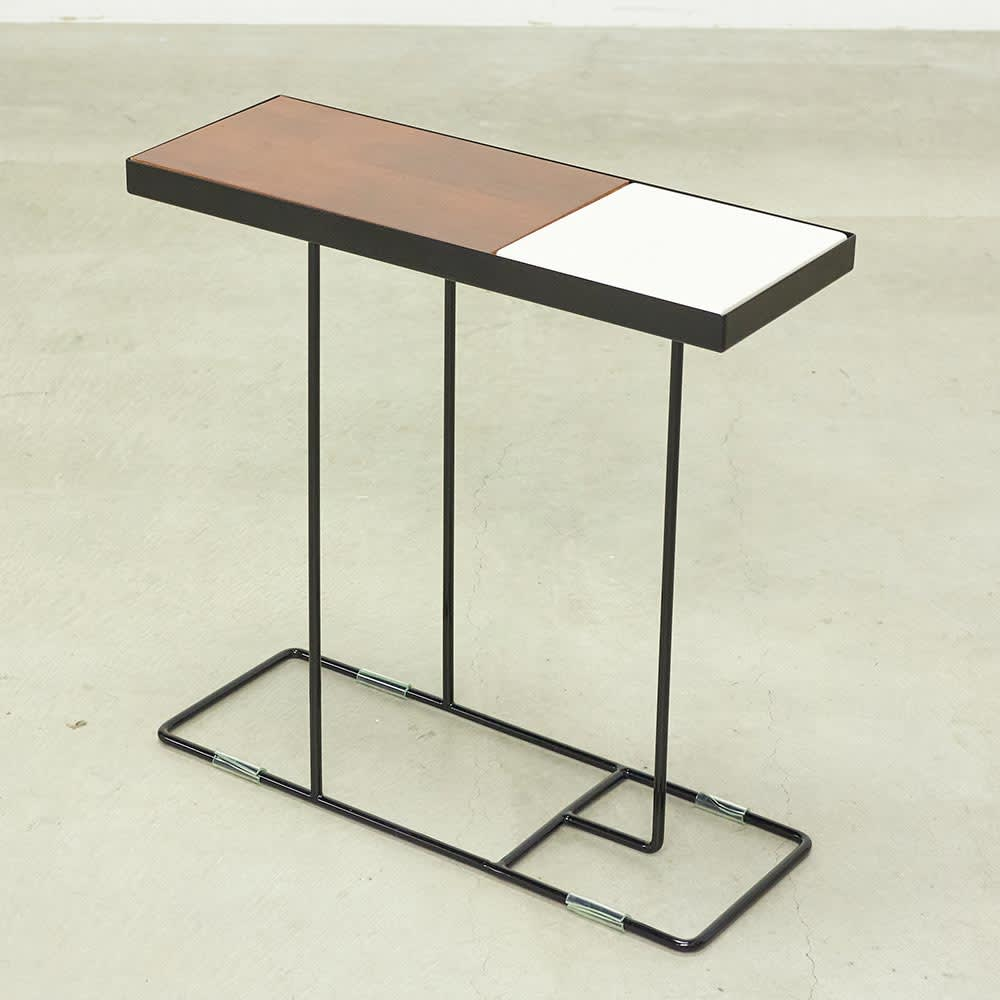 コンパニオン サイドテーブル (イ)ブラックフレーム×ブラック