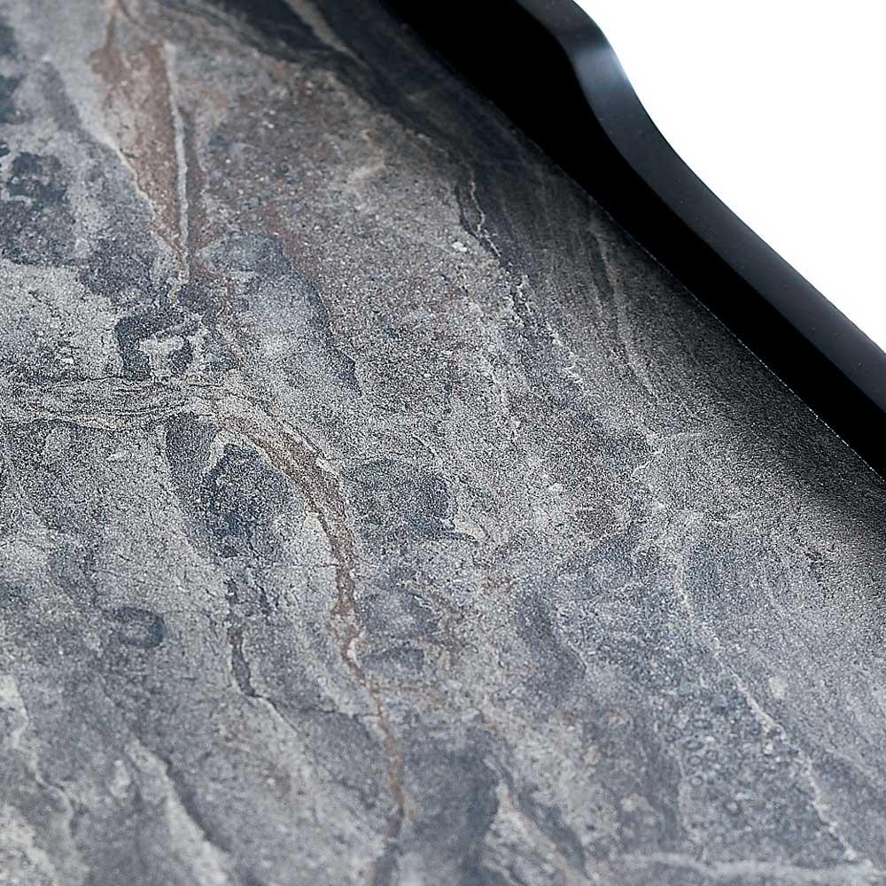 Elusso/エルーソ 石目調天板コンソール・ミニテーブルシリーズ 天板には傷や熱、へこみなどの耐久性に優れた特殊素材を使用。グレイッシュトーンの石目材をリアルに表現しています。