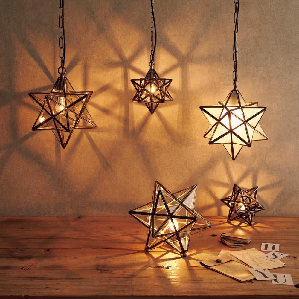 Etoile/エトワール 白熱球テーブルランプスモール 職人が手作業で仕上げた星形ライトです。※お届けはテーブルランプスモールです。
