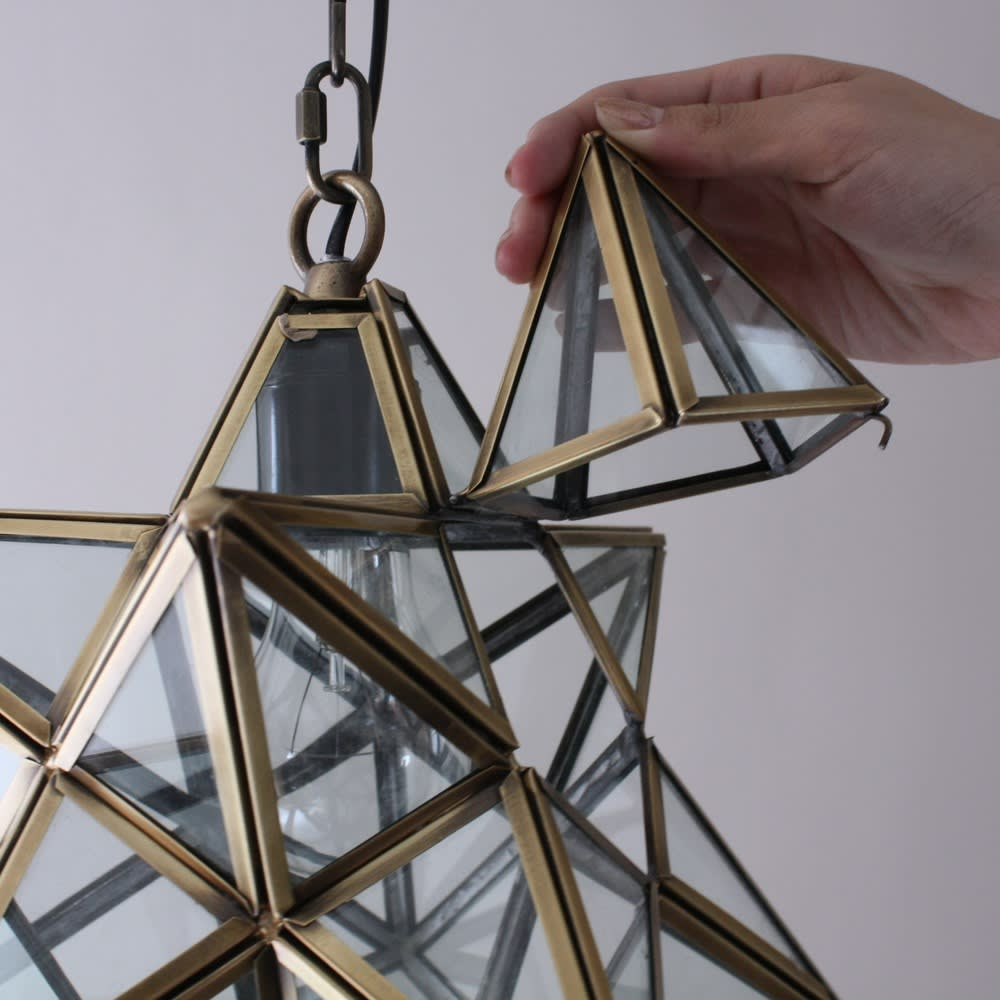 Etoile/エトワール 白熱球ペンダントランプ LEDなど、お好みの電球に変えることも可能。