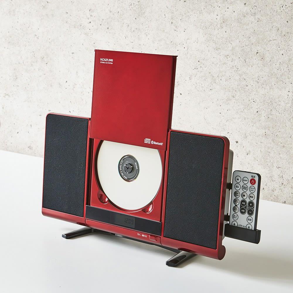 ウォールマウントCDシステム NEW 電動スライドCDドア搭載。壁掛けだけでなく、スタンドを使用して置いても使えます。