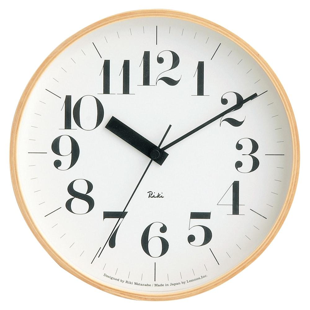 インテリア雑貨 日用品 時計 壁掛け時計 振り子時計 RIKI CLOCK/リキクロック 電波時計 径25.4cm[デザイン:渡辺力] H01817