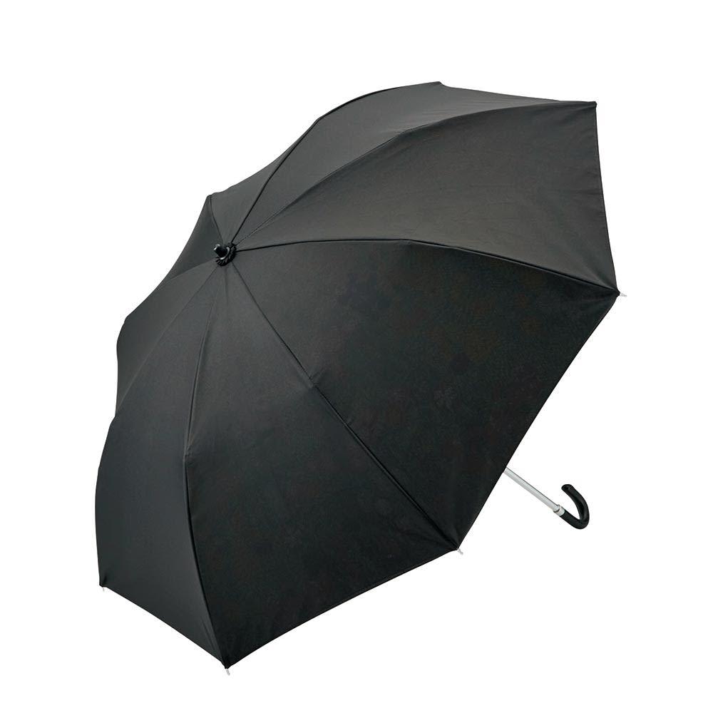 名画フリルジャンプ傘&折りたたみ傘セット 折りたたみ傘 外見はシンプル、内側が華やかな絵柄になっています。