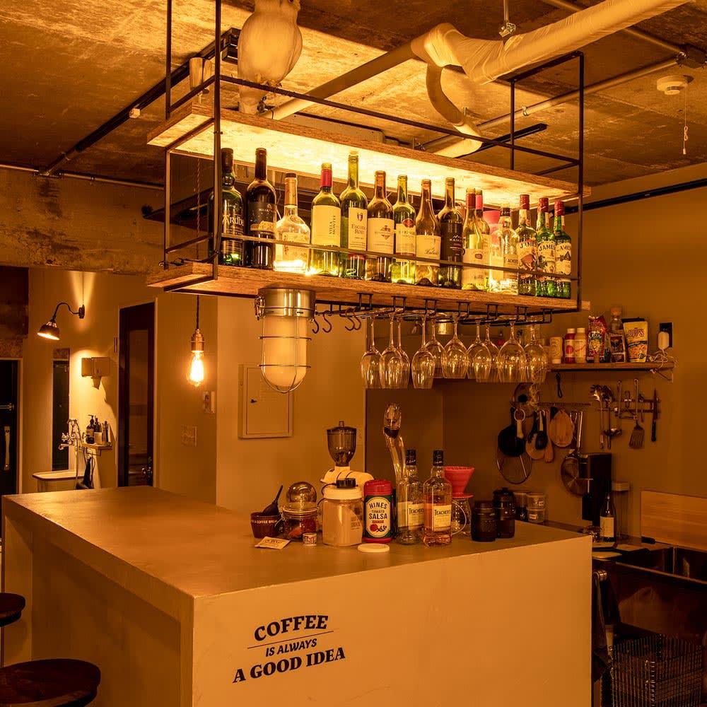 間接照明やホームシアターのライティングに!ネオマンクス LED バーライト お気に入りのお酒を照らせばバーやレストランのような雰囲気に。