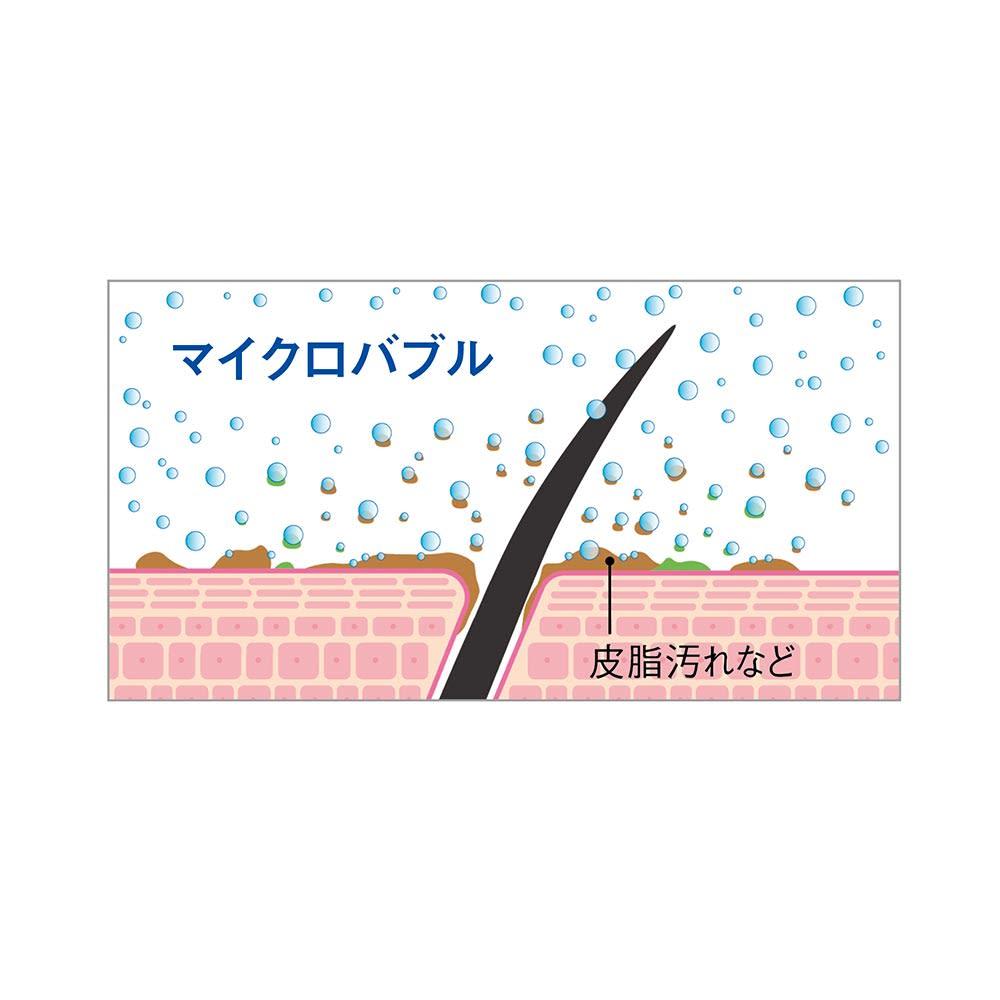 マイクロバブル シャワーヘッド AngelAir Bijet 高濃度のマイクロバブルを含んだ水流が、肌表面や毛穴の汚れを洗い流します。