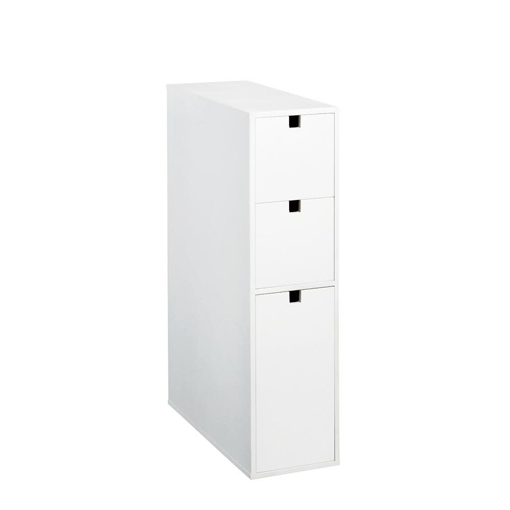 家具 収納 トイレ収納 洗面所収納 トイレラック サニタリー雑貨 スリム 引き出し トイレ収納庫 3段 H02320