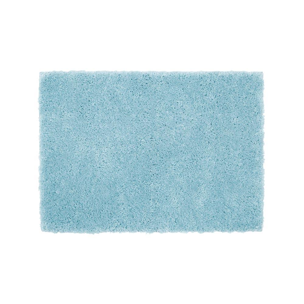 ふかふか贅沢な踏み心地! 吸水ボリュームバスマット (イ)ブルー