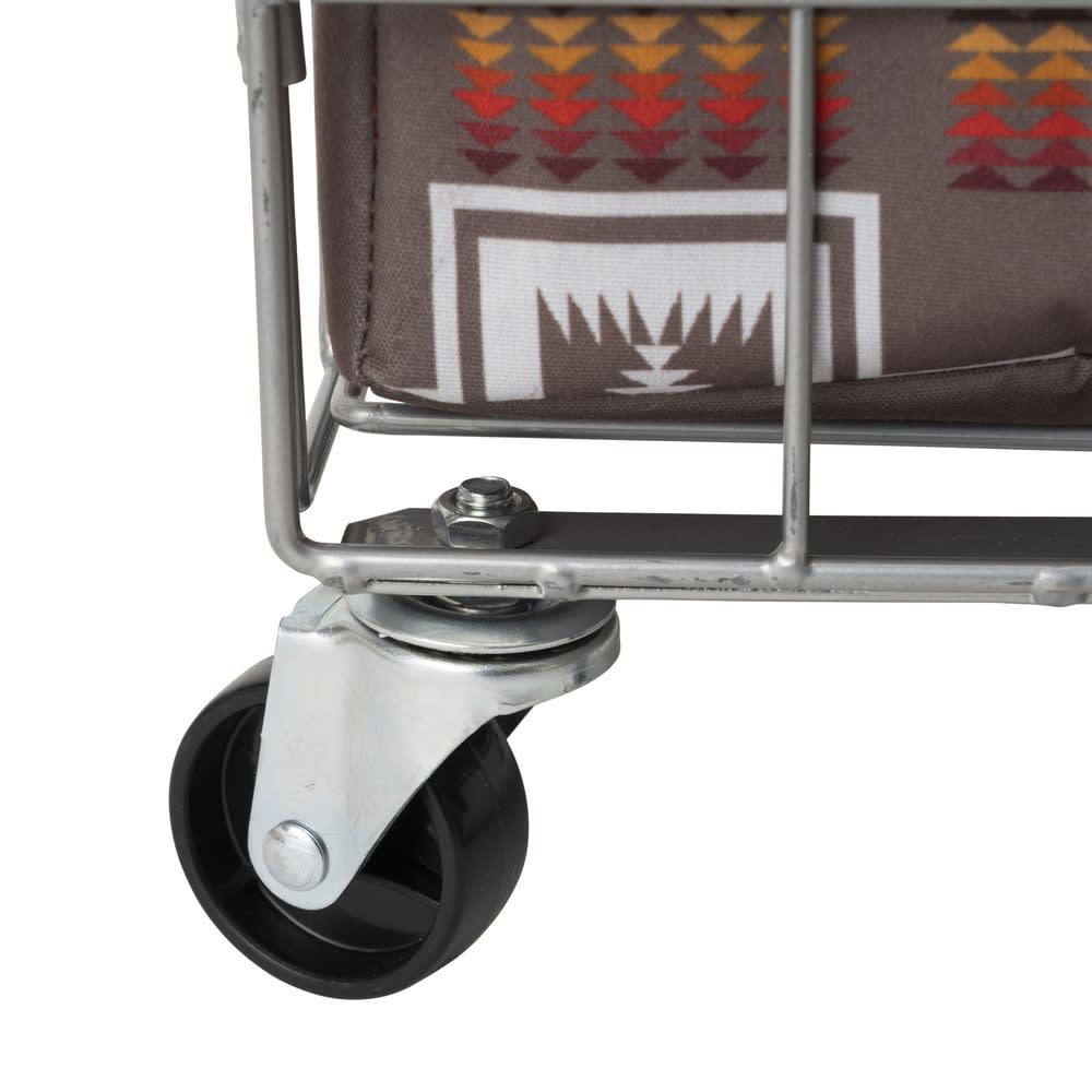 折りたためるキャスター付きバスケット Pendleton/ペンドルトン 28L 掃除や移動に便利なキャスターがついています。