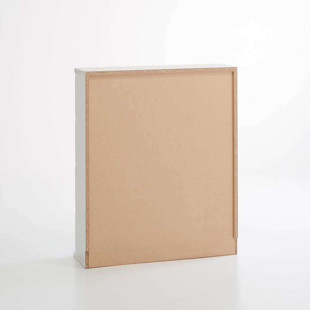 Marblenome/マーブルノーム 薄型サニタリーストッカー 幅60cm 引き出し+扉 背面