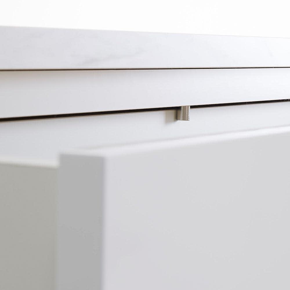 Marblenome/マーブルノーム 薄型サニタリーストッカー 幅45cm 引き出し 引き出しには落下防止のストッパー付き。