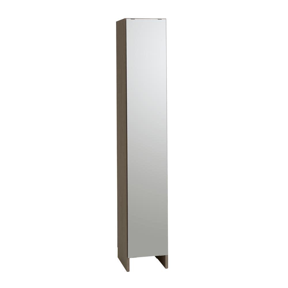 Fiennes/ファインズ ミラー扉サニタリー収納 幅35cm 奥行33.8cm 姿見サイズのミラーで、狭いサニタリーも広々とした印象に。