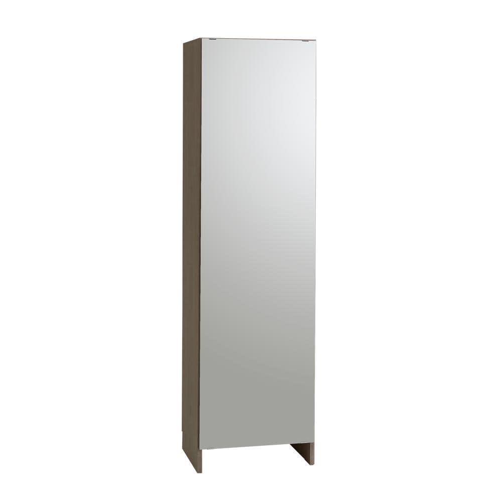 Fiennes/ファインズ ミラー扉サニタリー収納 幅50cm 奥行43.8cm 姿見サイズのミラーで、狭いサニタリーも広々とした印象に。