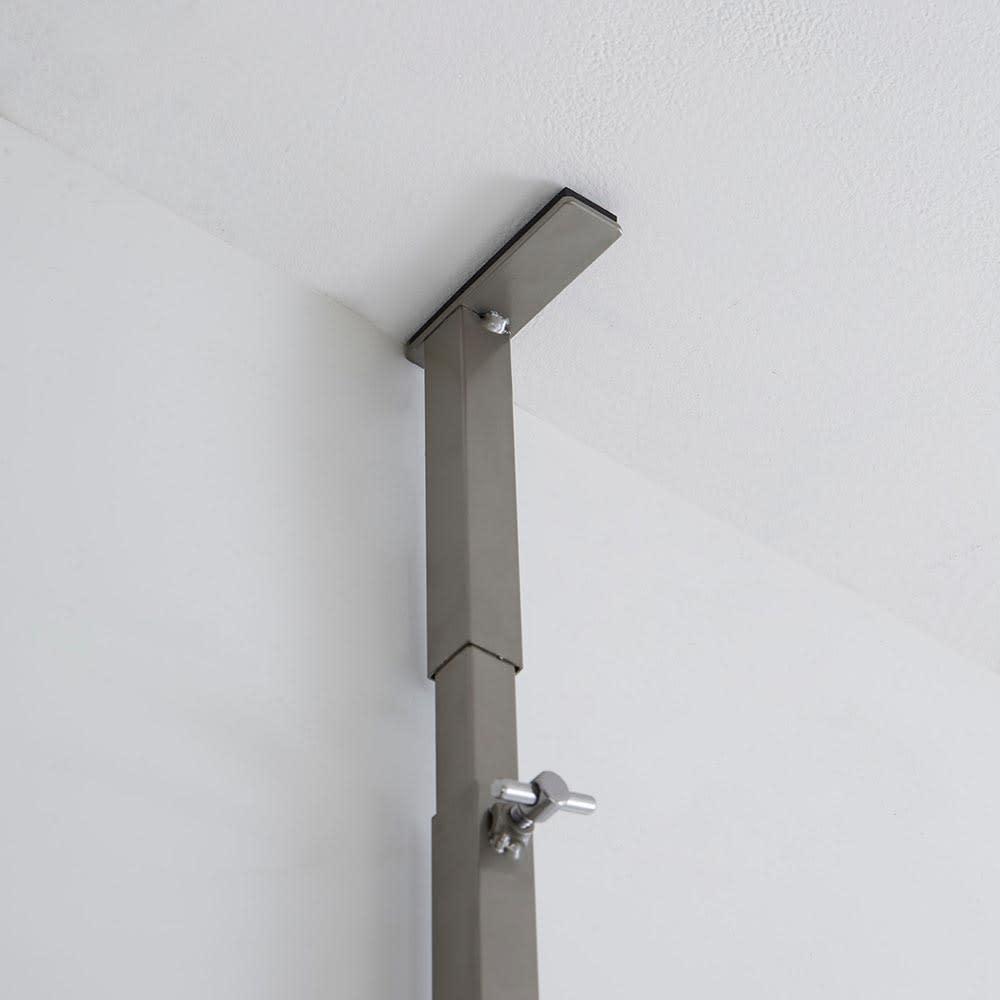 Lueurll/リュエール ニュアンスシルバーランドリー 棚3段 天井突っ張り部。
