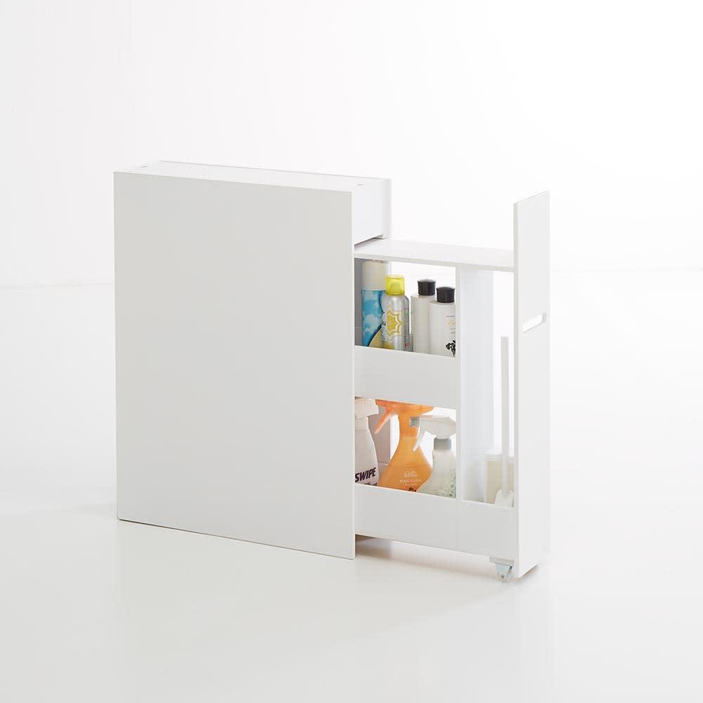 Glipa/グリーパ トイレ隙間収納 洗剤のボトルなどトイレ周りの用品をあれこれしまって。