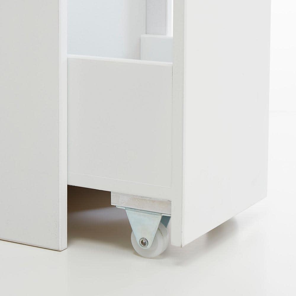 Glipa/グリーパ トイレ隙間収納 キャスター付きだからスムーズに引き出せます。