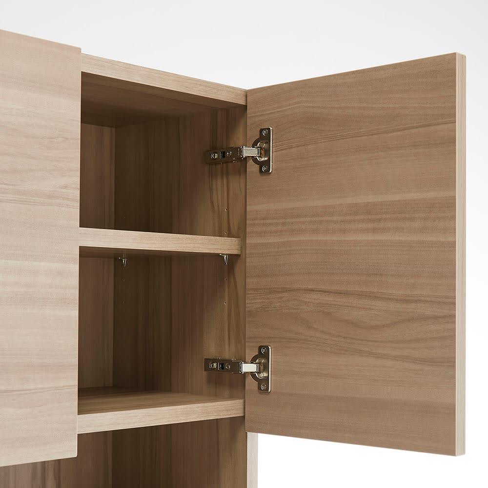 HS Clair/エイチエスクレール サニタリーストッカー 幅35cm 奥行45cm 生活感のあふれる収納物は、扉でしっかり目隠しを。